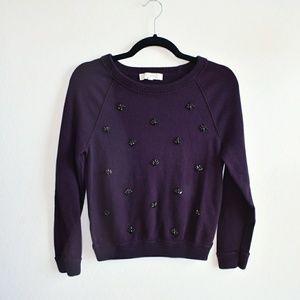 Purple Sweater with Gems